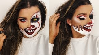 MELTED PENNYWISE CLOWN HALLOWEEN MAKEUP TUTORIAL!   Rachel Leary - Video Youtube