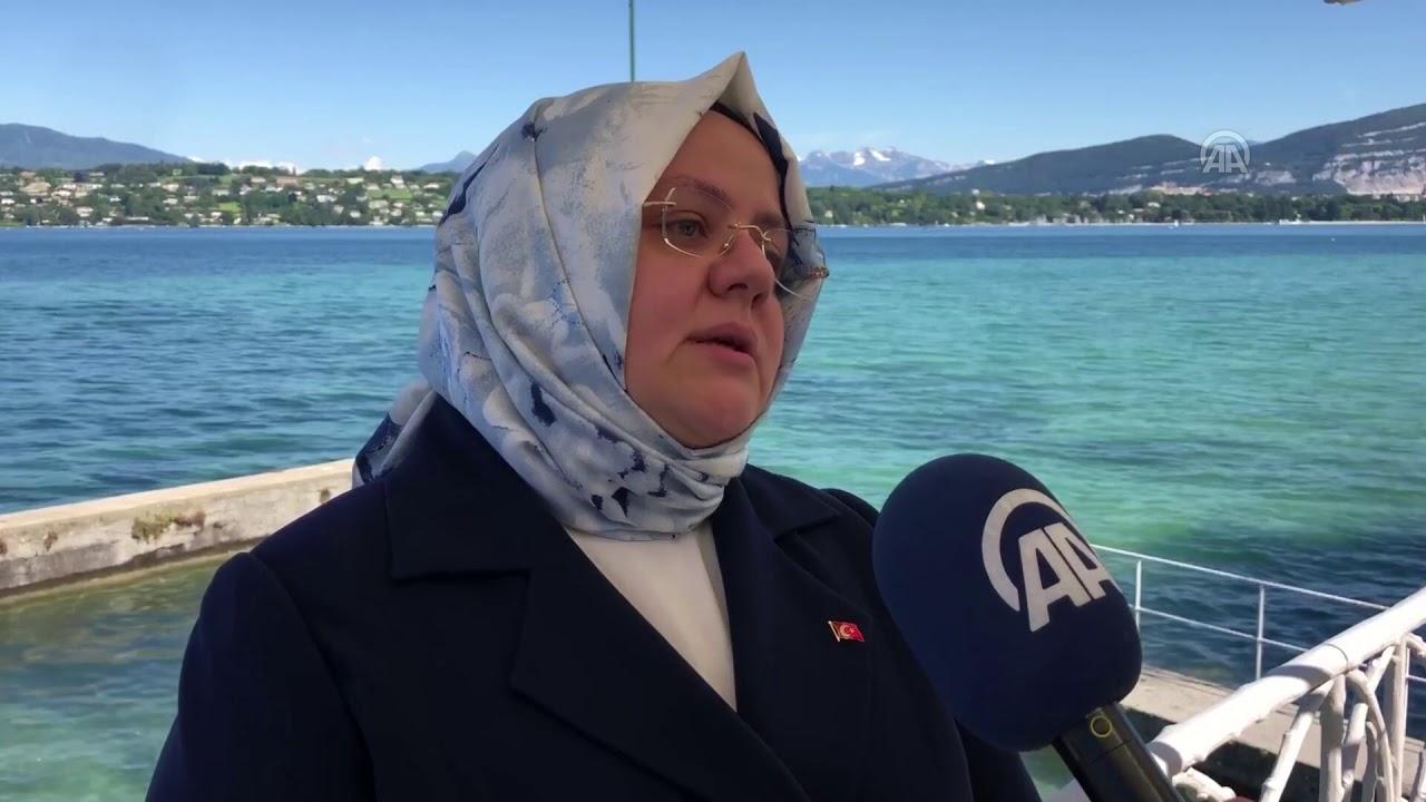 Bakan Selçuk Cenevre'de Anadolu Ajansına Değerlendirmelerde Bulundu