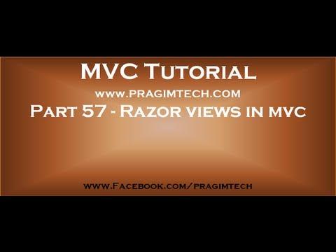 Part 57   Razor views in mvc