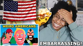 AMERICAN REACTS TO AMERICAN THINGS EUROPEANS FIND VERY WEIRD! 🥴 | Favour