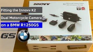 INNOVV K2 Motorcycle Camera System installed on BMW R1250GS