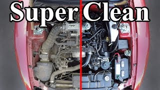 How to SUPER CLEAN your Engine Bay
