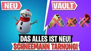 *UPDATE* ⛄ Schneemanntarnung! | Quad Launcher entfernt! | Fortnite Battle Royale