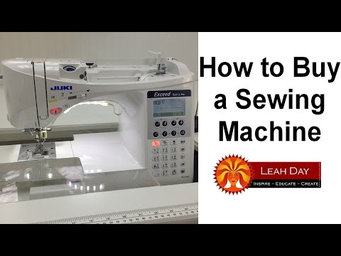 how to buy a sewing machine