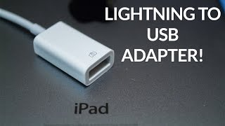iPad Lightning to USB Camera Adapter Review!