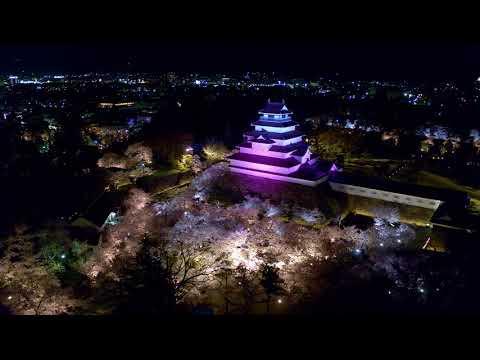 千本桜と春の鶴ヶ城ライトアップサムネイル