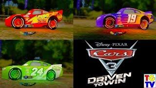 Cars 3 Driven to Win - Lightning McQueen vs Bobby Swift vs Brick Yardley