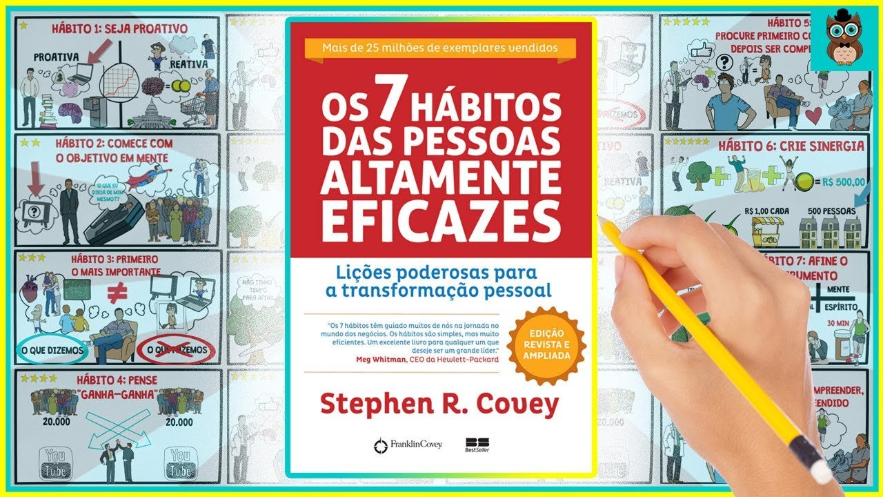 OS 7 HÁBITOS DAS PESSOAS ALTAMENTE EFICAZES | Stephen Covey