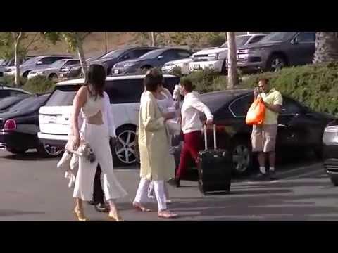 Kris Jenner, Corey Gamble, Khloe Kardashian and Kendall Jenner arrive at church