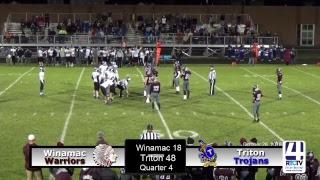 Varsity Football Sectional Winamac vs Triton
