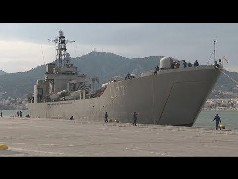 Μυτιλήνη: Στο λιμάνι της πόλης το αρματαγωγό Ρόδος για τους νεοεισερχόμενους πρόσφυγες