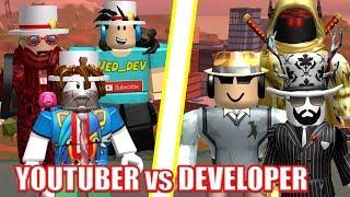 ULTIMATE YOUTUBERS vs DEVELOPERS! |  Roblox Jailbreak