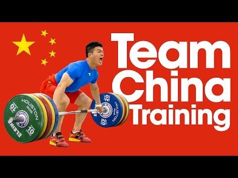 🇨🇳 Team China 🇨🇳 Training Hall Full Session with Lu Xiaojun 200kg Clean & Jerk, Tian Tao 215kg Clean