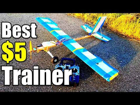 $5 Trainer Best Beginner Rc Airplane Project EP1 Build Overview and First Flight of 2018