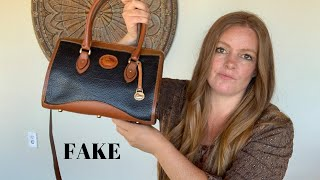I Bought A Fake Vintage Dooney & Bourke Bag - Accidental Reseller Purchase