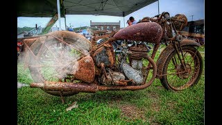 Old Motorcycle Starting Up After Many Years !
