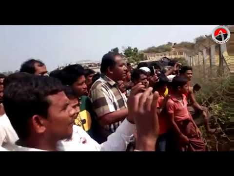 Rohingyas at Zero_Point of  with Journalists telling there in different problem facing 18 Mar 2018