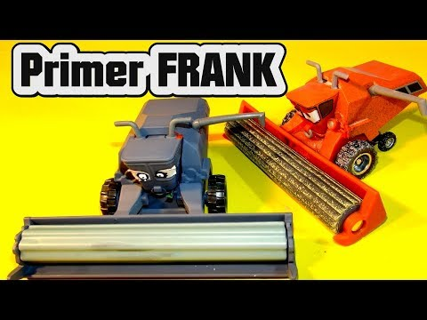 Pixar Cars Primer FRANK  From Cars By Disney And Mattel And Lightning McQueen Cars 3
