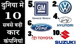 Top 10 Largest Car Companies In The World 2019 [Explain In Hindi]