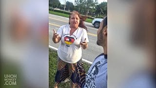 RACIST WOMAN CALLING US TERRORISTS