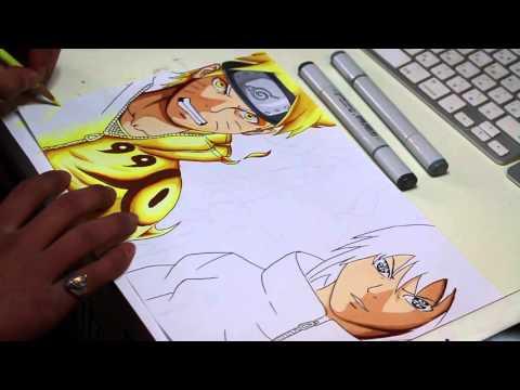 Naruto and Sasuke Speed Drawing - Naruto Shippuden