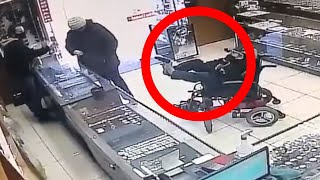 HE ROBBED A JEWELLERY STORE WITH HIS FEET