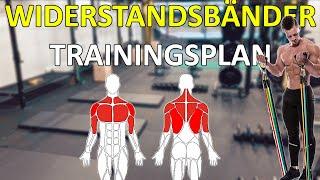 Trainingsplan mit Widerstandsbändern - Fitness Band für Zuhause oder Unterwegs