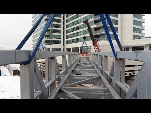Building a bridge from K2 Apartments to Jewel-Osco