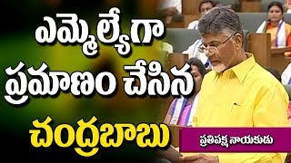 AP TDP chief Chandrababu Naidu Takes Oath as MLA