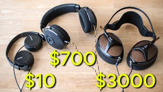 Can a $10 Sony MDR-ZX110 sound better than a $700 or $3000 headphone?