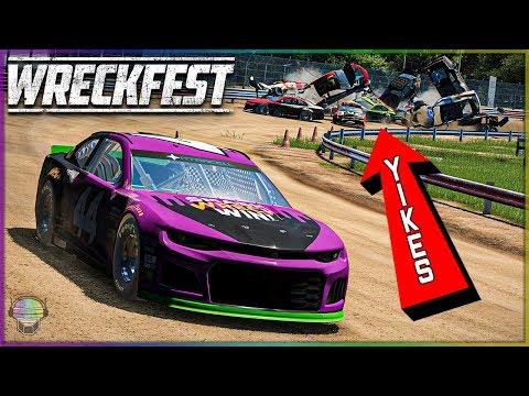FLIPPING OVER THE FENCE! | Wreckfest | NASCAR