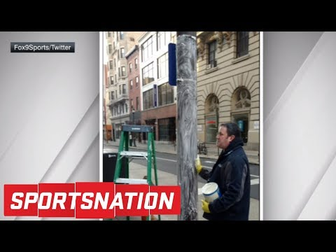 Philadelphia putting new substance on light poles to keep Eagles fans off | SportsNation | ESPN
