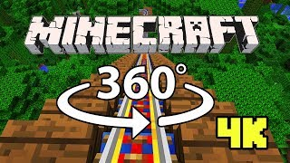 Minecraft [VR] 360° 4K 60 Fps - ROLLER COASTER | Jungle Rush