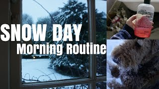 Productive & Cosy Snow Day Morning Routine    Productive Vlogmas Day 12