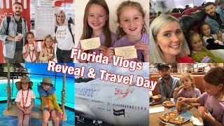Florida Vlogs 2019 | Orlando Trip Reveal & Travel Day | Disney World & Universal