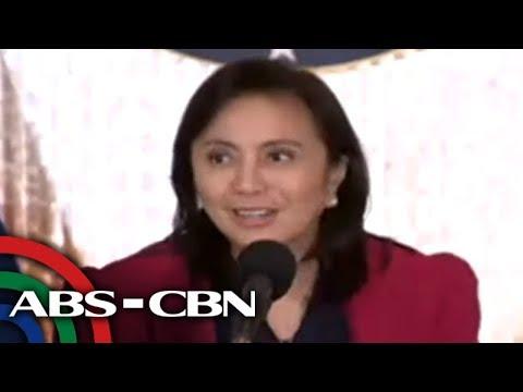 [ABS-CBN]  Duterte itinalaga si Robredo na co-chairperson ng komite vs ilegal na droga | ABS-CBN News