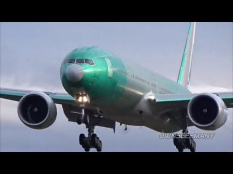 Cathay Pacific Boeing 777-300ER Short 1st Flight Documentary of B-KQW @ KPAE Paine Field