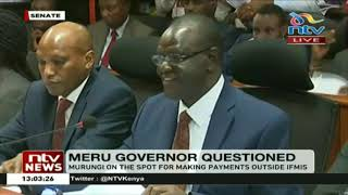 Governor Kiraitu Murungi on the spot for making payments outside IFMIS