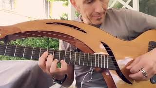Massimo Varini on Utopia harp guitar