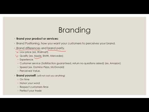 الدرس التاسع, كيفاش تبني العلامة التجارية ديالك
