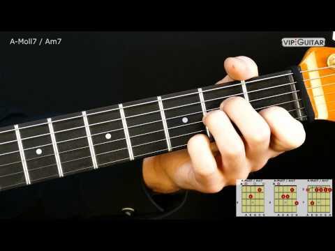 Gitarrenakkorde: A-Moll7 Akkord / Am7 chord