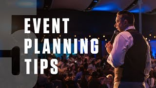 5 Event Management Tips For Beginners