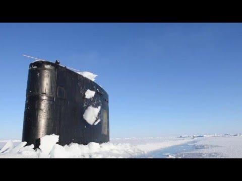hqdefault - Así emerge un submarino en el Círculo polar ártico