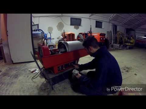 Cannone per aria calda a gasolio,riscaldamento industriale
