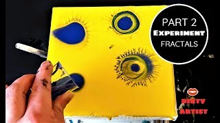 FRACTAL ART - Dendrites With Acrylic Pouring /Fluid Art Paints? For Beginners Learning
