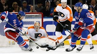 Philadelphia Flyers and New York Rangers combine for 11 goals