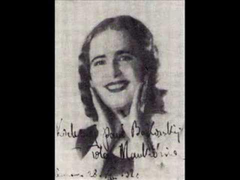 """Tola Mankiewiczówna sings """"Autumn Roses"""" (Jesienne róże), 1932"""