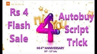 mi com 4th Anniversary Sale 2018   Rs 4 Sale