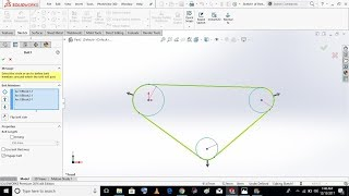 Belt And Chain Drive In SolidWorks | Concept Pulleys. #5