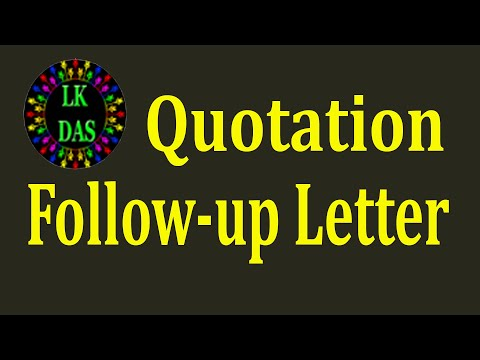 mp4 Follow Up On Quotation, download Follow Up On Quotation video klip Follow Up On Quotation